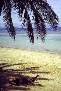 Andi beim Chillen am Strand von Cabana
