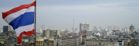 Blick vom Golden Mountain auf Bangkok