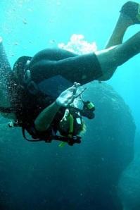 Purzelbaum unter Wasser