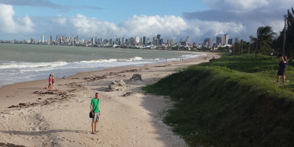 Beachfront von Joao Pessoa mit Blick auf Tambau